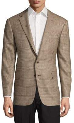 Ralph Lauren Textured Cashmere Notch-Lapel Jacket