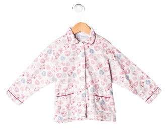 Rachel Riley Girls' Floral Pajama Top