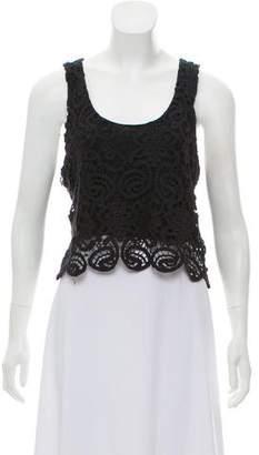 Miguelina Sleeveless Crochet Top