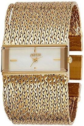 Aspen アスペンWomen 's Feminine Exclusiveアナログダイヤル腕時計ホワイト