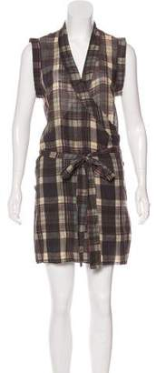 Isabel Marant Plaid Wrap Dress