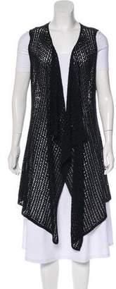 Magaschoni Metallic Open Knit Vest