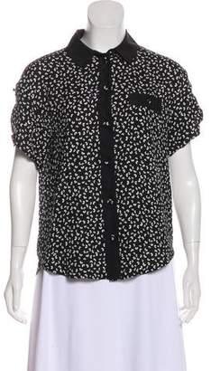 Louis Vuitton Short Sleeve Floral Print Top