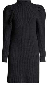 Sandro Puff Sleeve Sweater Dress