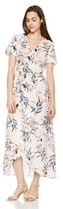 Suite Alice Short Sleeve V Neck Wrap Dress Print