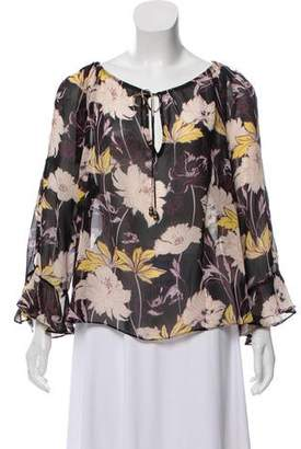 Ella Moss Floral Sheer Top w/ Tags