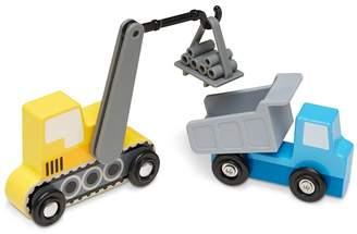 Melissa & Doug Wooden Construction Site Vehicles Set