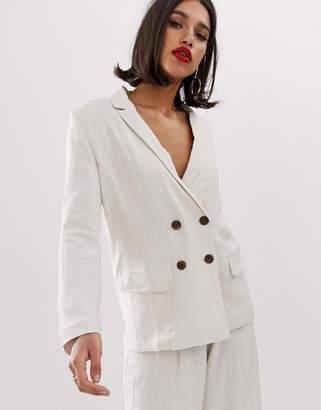 Asos Design DESIGN gutsy linen relaxed blazer