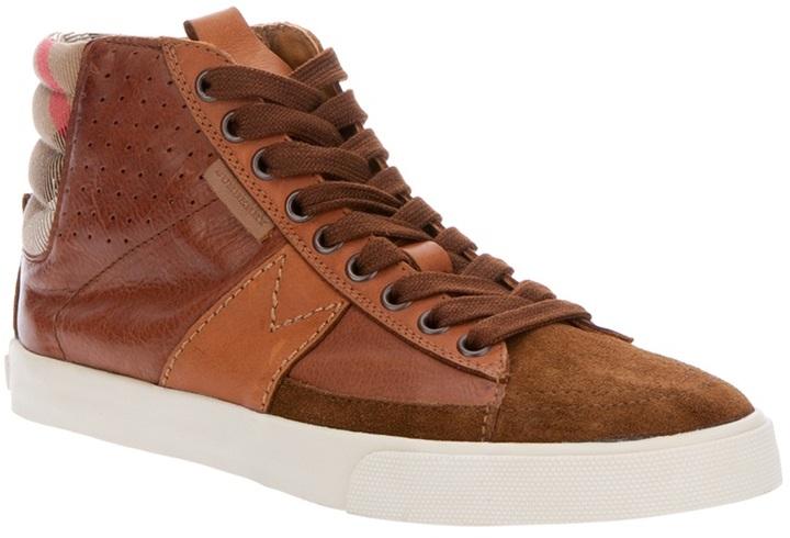 Burberry 'Stamford' hi-top sneaker