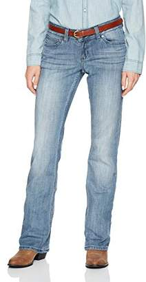 Wrangler Women's Premium Patch Mae Jean-Sits Above Hip