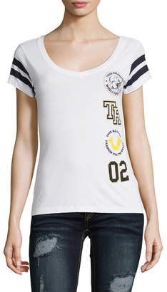 True Religion Women's Vertical Patches Tee