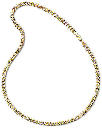 JCPenney FINE JEWELRY Made In Italy Mens 10K Yellow Gold 22 6mm Semi-Solid Curb Chain Necklace