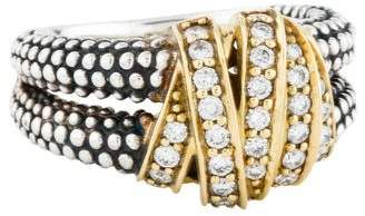 Lagos Diamonds & Caviar Medium Ring