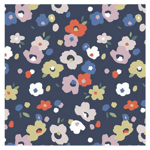 Colorful Posies Self-Launch Wrapping Paper
