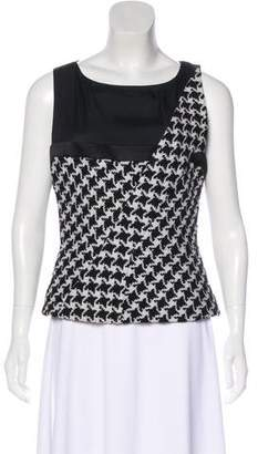 Christian Dior Wool Houndstooth Top