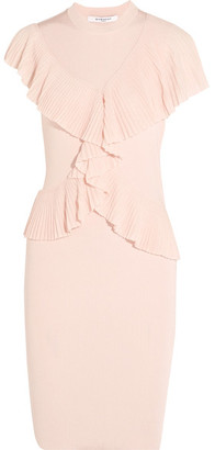 Givenchy - Ruffled Ribbed-knit Dress - Pink $2,545 thestylecure.com