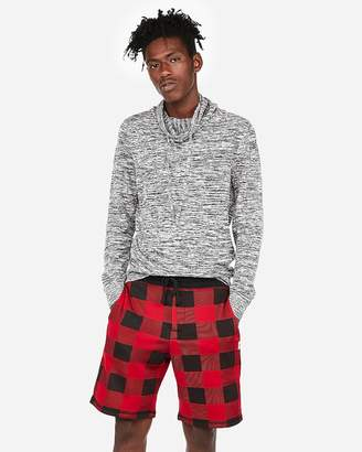 Express Exp Weekend Checkered Fleece Shorts