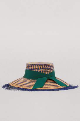Sensi Studio Straw hat with ribbon 8cc27d794f9c
