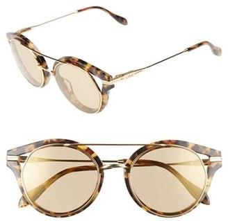 Women's Sonix Preston 51Mm Gradient Round Sunglasses - Amber Mirror/ Brown Tortoise $98 thestylecure.com