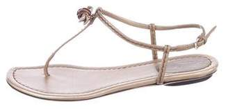 Gucci Bamboo-Embellished Thong Sandals