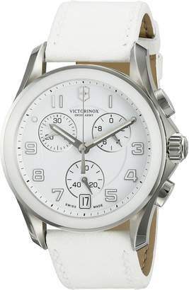 Victorinox Women's 241500 White/White Leather Watch