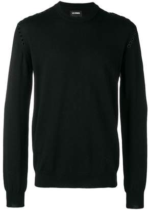 Les Hommes studded round neck sweater