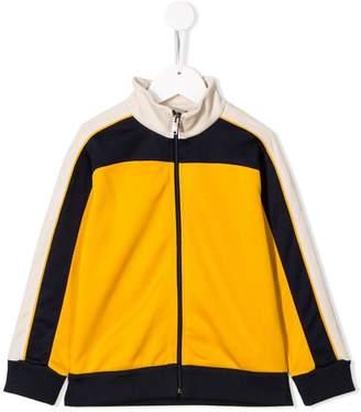 Gucci Kids colour block zip front track top