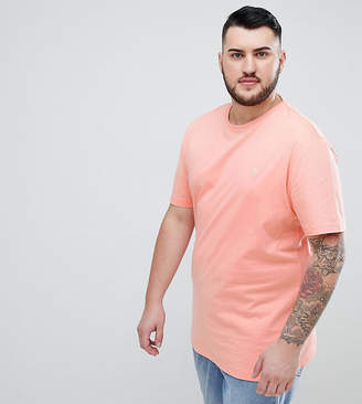 Original Penguin Big & Tall Small Logo Crew Neck T-Shirt in Pink