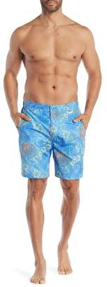 Peter Millar Paisley Print Swim Trunks