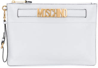 Moschino logo clutch bag