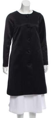 Tory Burch Satin Knee-Length Coat