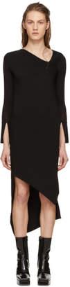 Neil Barrett Black Spiral Knit Dress