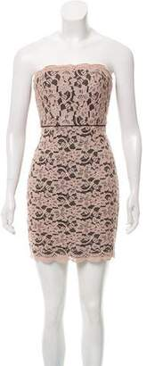 Diane von Furstenberg Strapless Lace Mini Dress