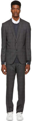 BOSS Grey Check Huge 6 Genius 5 Suit