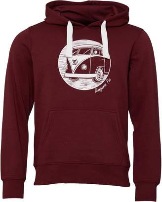 698cd62b0f79 Kangaroo Poo Mens Fleece Hoody Wine