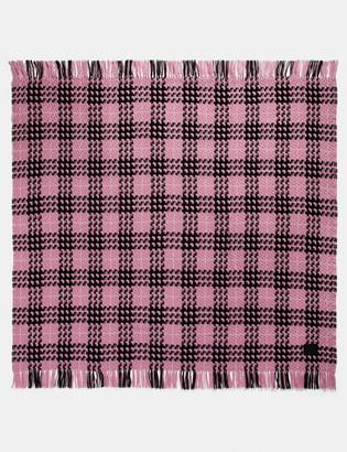 Coach Plaid Print Blanket Scarf