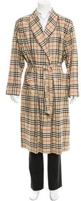 Burberry Nova Check Belted Robe