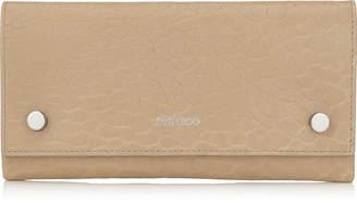 Jimmy Choo LAINA Nude Grainy Leather Wallet