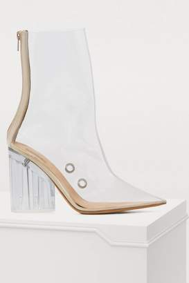 Yeezy PVC high-heeled ankle boots