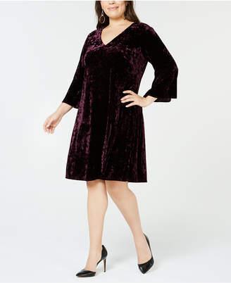 Jessica Howard Plus Size Crushed Velvet Dress