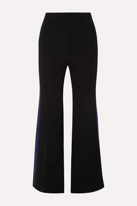 Roland Mouret Madison Striped Crepe Flared Pants - Black