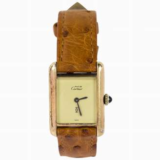 Cartier Vintage Tank Must Gold Gold plated Watches