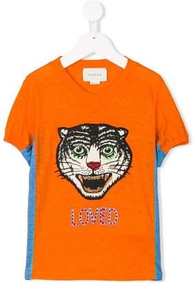 Gucci Kids Tiger print T-shirt