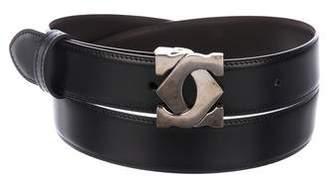 Cartier Reversible Leather Logo Belt