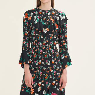 Maje Long printed dress