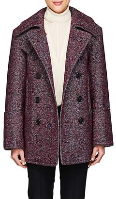 Chloé Women's Wool-Blend Tweed Double-Breasted Coat