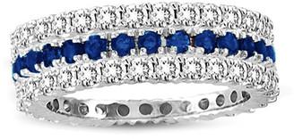 LeVian Suzy Diamonds Suzy Set Of 3 14K 1.80 Ct. Tw. Diamond & Sapphire Eternity Rings
