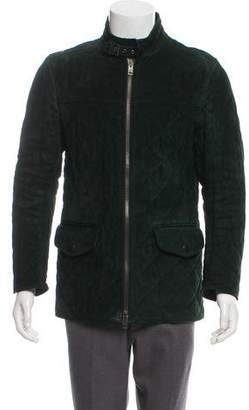 Gucci Leather Quilted Jacket