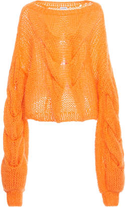 Loewe Cable Mohair-Blend Sweater