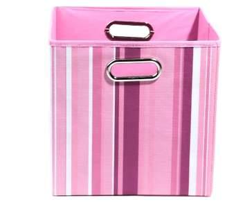 Modern Littles Folding Storage Bin (Rose Stripes)